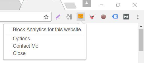 Block Analytics for this website