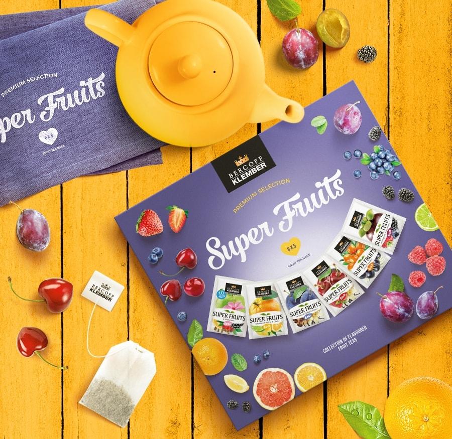 KLEMBER - Super Fruits Selection - obalový dizajn